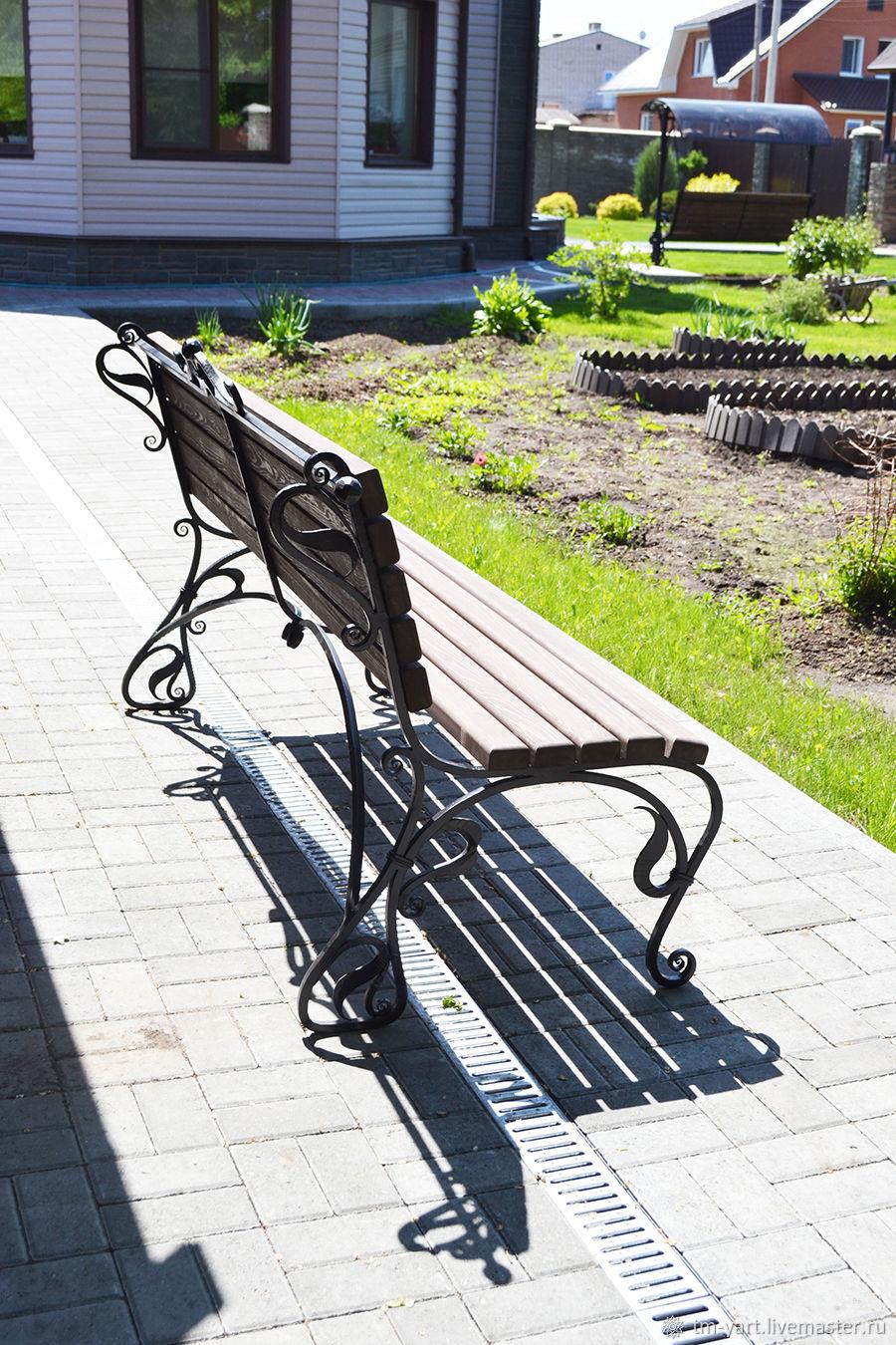 Wrought iron garden bench, Garden benches, Barnaul,  Фото №1