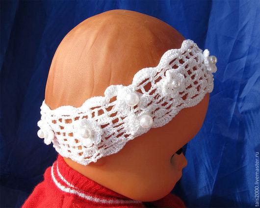 Шапки и шарфы ручной работы. Ярмарка Мастеров - ручная работа. Купить Повязка на голову. Handmade. Однотонный, повязка для малышей