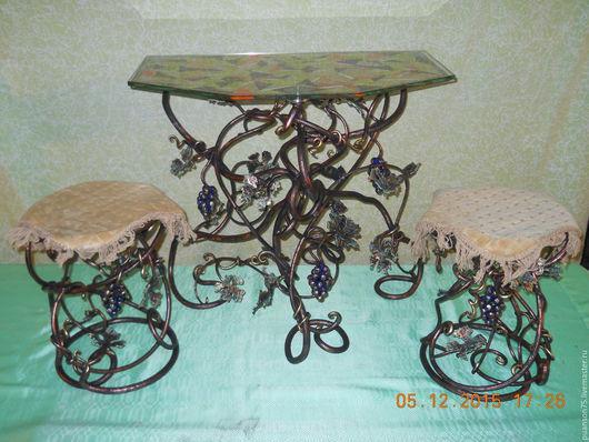 Кухня ручной работы. Ярмарка Мастеров - ручная работа. Купить кованный столик две стулочки виноградная лоза. Handmade.