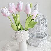 Цветы и флористика ручной работы. Ярмарка Мастеров - ручная работа Букет тюльпанов. Handmade.