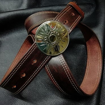 "Accessories handmade. Livemaster - original item Belt ""Plumelet"". Handmade."
