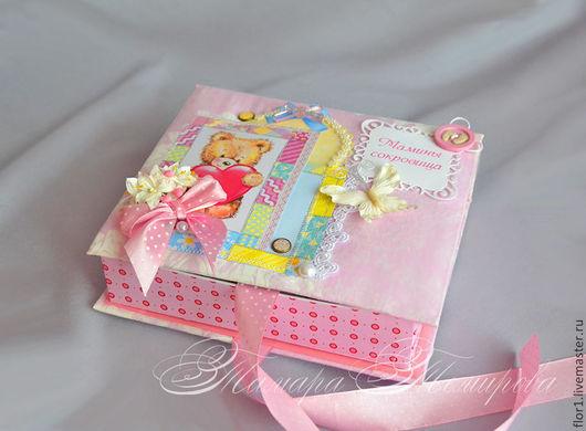 """Подарки для новорожденных, ручной работы. Ярмарка Мастеров - ручная работа. Купить Мамины сокровища """"Мишка-малышка"""". Handmade. Розовый"""