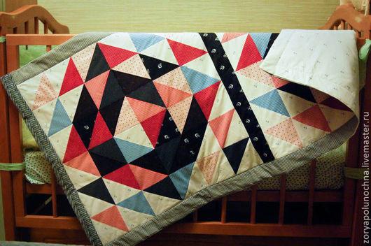 """Пледы и одеяла ручной работы. Ярмарка Мастеров - ручная работа. Купить Детское одеяло / покрывало в кроватку """"Капитан"""". Handmade."""
