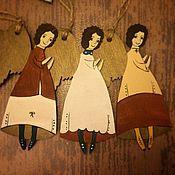 Подарки к праздникам ручной работы. Ярмарка Мастеров - ручная работа Ангелы в носочках. Handmade.