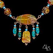Украшения handmade. Livemaster - original item The secret of the Savannah. Jewelry set. Handmade.