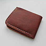 Сумки и аксессуары handmade. Livemaster - original item Leather wallet men`s. Handmade.