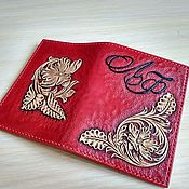 Cover handmade. Livemaster - original item Passport cover personalized leather passport cover with monogrammed. Handmade.