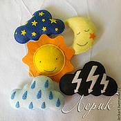 """Куклы и игрушки ручной работы. Ярмарка Мастеров - ручная работа Мобиль на кроватку из фетра """"Небо"""". Handmade."""