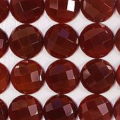 Кабошоны ручной работы. Ярмарка Мастеров - ручная работа Агат граненый, кабошон коричневый 16 мм круг. Handmade.