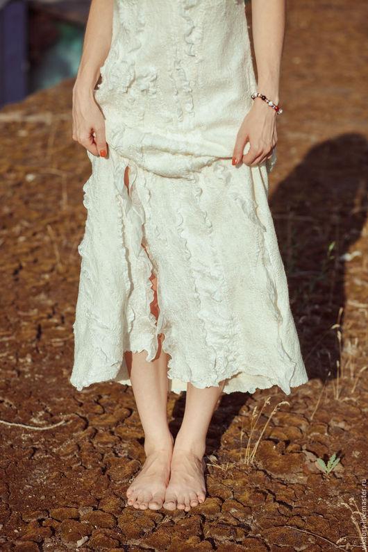 """Платья ручной работы. Ярмарка Мастеров - ручная работа. Купить Платье """"Белая жемчужина"""". Handmade. Белый, свадебное платье"""