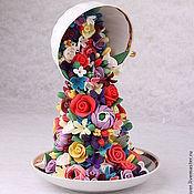 Цветы и флористика handmade. Livemaster - original item Interior arrangement Floating Cup. Flowers from polymer clay.. Handmade.