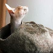 """Для домашних животных, ручной работы. Ярмарка Мастеров - ручная работа Домик для кошки """"Кроличья нора"""". Handmade."""