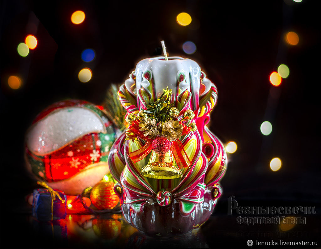 Резные Свечи.Резные Свечи ручной работы.Резные Свечи Новогодние. Подарок на Новый Год.