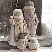 """Народная кукла ручной работы. Ярмарка Мастеров - ручная работа Семья """"Ванильное облако"""".. Handmade."""