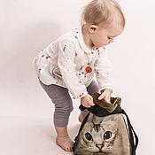 Сумки и аксессуары ручной работы. Ярмарка Мастеров - ручная работа детский рюкзачок. Handmade.