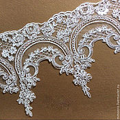 Материалы для творчества handmade. Livemaster - original item Lace with sequins trim for wedding dress, wedding veils.2. Handmade.