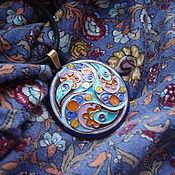 """Украшения ручной работы. Ярмарка Мастеров - ручная работа Кулон с горячей эмалью """" Индийский мотив"""". Handmade."""