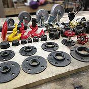 Материалы для творчества handmade. Livemaster - original item Loft - cast-iron threaded flanges Wholesale. Handmade.