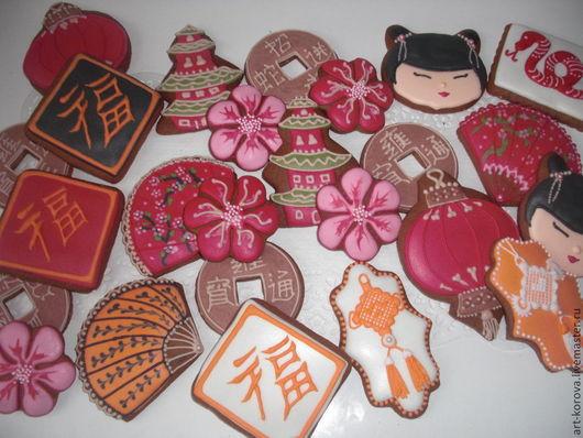 Кулинарные сувениры ручной работы.   Ароматный  пряничный набор в китайском стиле . Татьяна Римская. Ярмарка мастеров