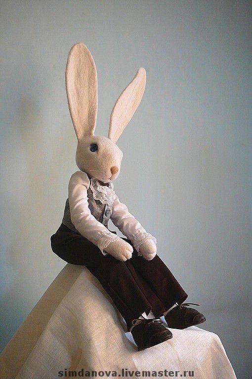 Сказочные персонажи ручной работы. Ярмарка Мастеров - ручная работа. Купить Кролик Эдвард. Handmade. Кролик, кролик эдвард, шёлк