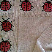 """Для дома и интерьера ручной работы. Ярмарка Мастеров - ручная работа Детский хлопковый плед """"Божьи коровки"""". Handmade."""