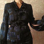 """Одежда ручной работы. Ярмарка Мастеров - ручная работа Блузка шелк """"Стефания"""". Handmade."""