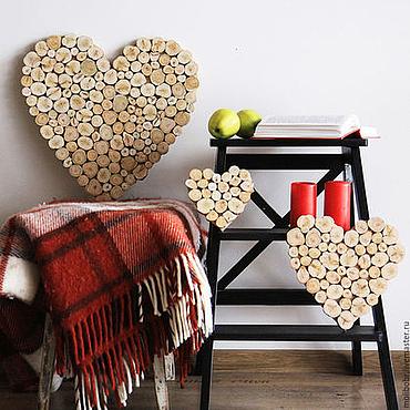 Подарки к праздникам ручной работы. Ярмарка Мастеров - ручная работа Сердца можжевеловые, комплект из трёх штук.. Handmade.