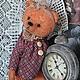 Авторский  коллекционный винтажный мишутка . Девочка Полинка , невероятно нежная , милая мишка . Отлично стоит и сидит . Полинка сшита из винтажного плюша . костюмчик так же из винтажной ткани . пугов
