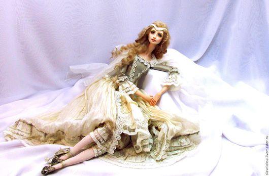 Коллекционные куклы ручной работы. Ярмарка Мастеров - ручная работа. Купить ВДОХНОВЕНИЕ - будуарная кукла. Handmade. Авторская кукла, винтаж