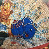 Украшения ручной работы. Ярмарка Мастеров - ручная работа Слон  индийский, совсем ручной, в добрые руки:). Брошь войлочная. Handmade.