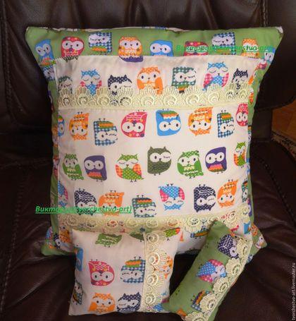 Текстиль, ковры ручной работы. Ярмарка Мастеров - ручная работа. Купить Набор : наволочка на диванную подушку и подушечки-саше с лавандой. Handmade.