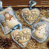Подарки к праздникам handmade. Livemaster - original item Christmas decorations Set of 4 PCs.