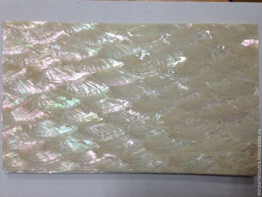 Аппликации, вставки, отделка ручной работы. Ярмарка Мастеров - ручная работа. Купить Пластина 016 перламутровая из раковины морское ушко. Handmade.