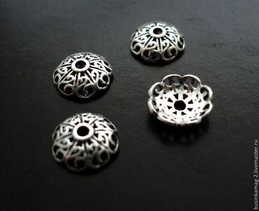 Для украшений ручной работы. Ярмарка Мастеров - ручная работа. Купить Шапочки серебро 925 проба, вариант 2, 8мм. Handmade.