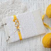 Свадебный салон ручной работы. Ярмарка Мастеров - ручная работа Свадебная книга пожеланий.. Лимонно-желтый. Handmade.