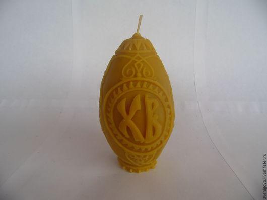 Свечи ручной работы. Ярмарка Мастеров - ручная работа. Купить свеча ( пасхальное яйцо).. Handmade. Желтый, пасхальное яйцо