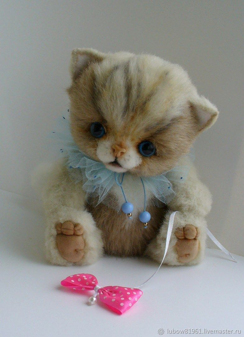 """Игрушки животные, ручной работы. Ярмарка Мастеров - ручная работа. Купить Котик - тедди """"Тиша"""". Handmade. Кот, котик"""