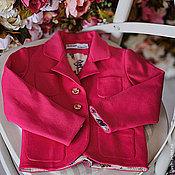 Работы для детей, handmade. Livemaster - original item jacket girl`s azalea