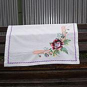 Винтаж ручной работы. Ярмарка Мастеров - ручная работа салфетка -скатерть вышитая  крестиком. Handmade.