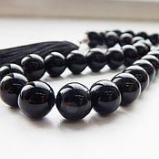 Фен-шуй и эзотерика handmade. Livemaster - original item Prayer beads 33 Black agate stone. Handmade.