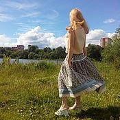 Одежда ручной работы. Ярмарка Мастеров - ручная работа Юбка льняная миди. Handmade.