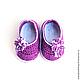 Для новорожденных, ручной работы. Заказать Пинетки «Фиолетовые туфли». Мария Зеленова ·Maryhand· (maryhandshop). Ярмарка Мастеров. Пинетки для новорожденных