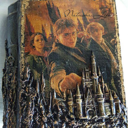 """Блокноты ручной работы. Ярмарка Мастеров - ручная работа. Купить Блокнот """" Гарри Поттер"""". Handmade. Золотой"""