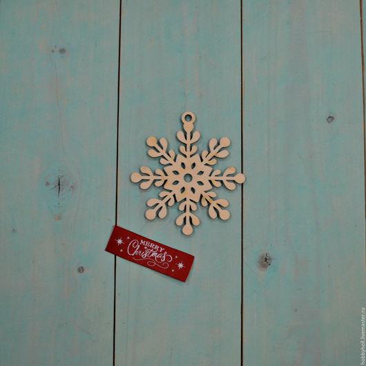 Декупаж и роспись ручной работы. Ярмарка Мастеров - ручная работа. Купить Ёлочная игрушка, Снежинка. Handmade. Бежевый, снежинка, снежинки
