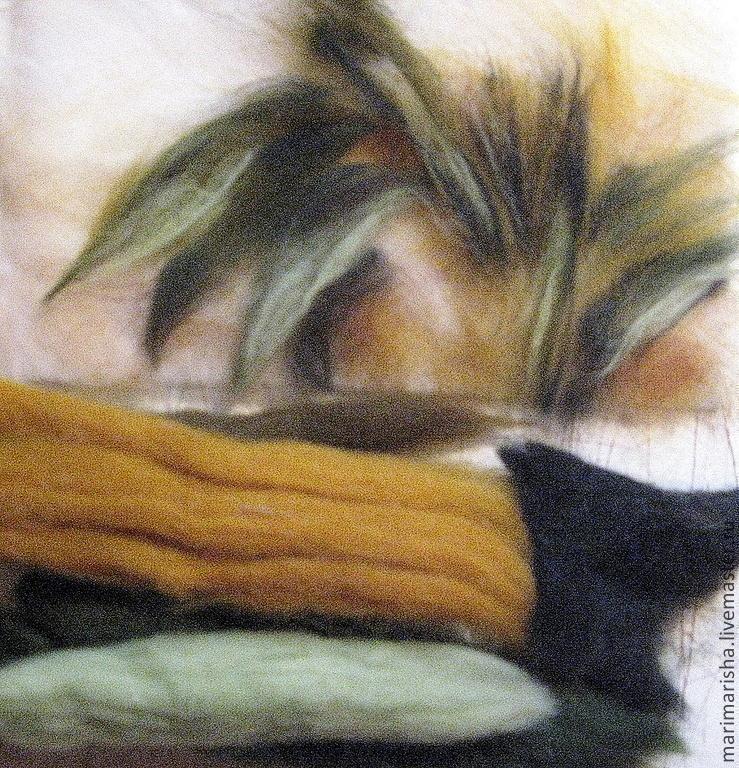 Картины из шерсти мастер класс бесплатно
