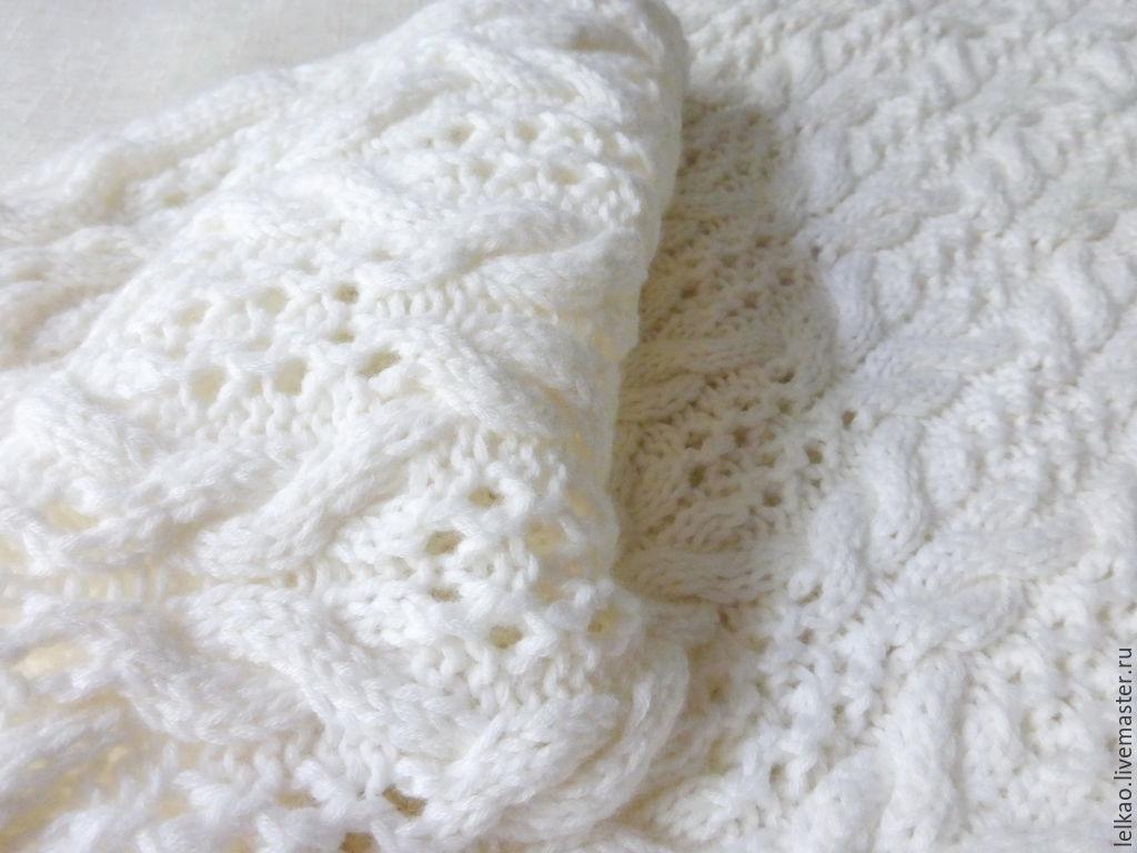 белый, снуд вязаный, снуд шарф хомут, снуд спицами, снуд шарф труба, ... a771ce0d19f