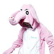 Одежда handmade. Livemaster - original item Pink Elephant Kigurumi - Custom Handmade - Anti-pill Fleece Pyjamas. Handmade.