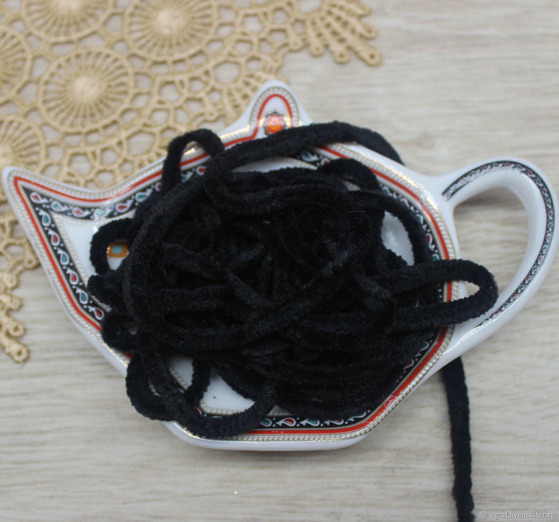 Синель 5 мм полиэстер Уголь  1  метр, Аксессуары для вышивки, Соликамск,  Фото №1