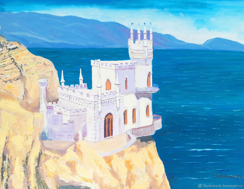Картина Крым Ласточкино Гнездо картина замок, Кукольный театр, Москва,  Фото №1