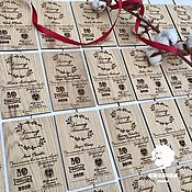 handmade. Livemaster - original item Wedding invitations made of natural oak!. Handmade.